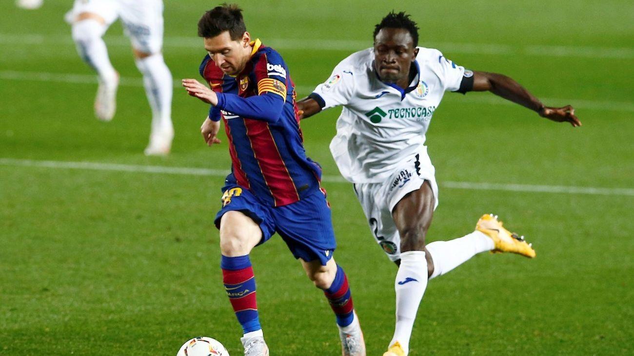 Messi ante el Getafe