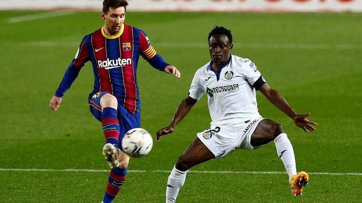 5-2. Duro correctivo del Getafe ante el Barça