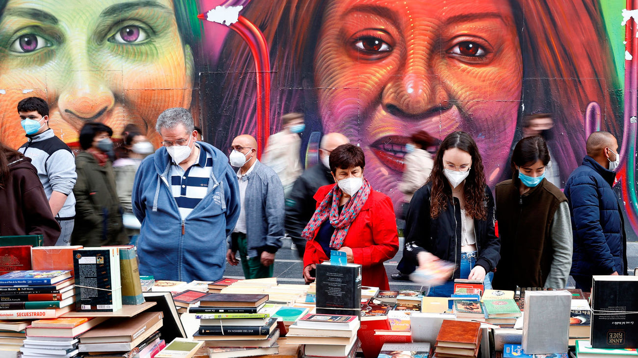 Celebración del Día del Libro en la Gran Vía