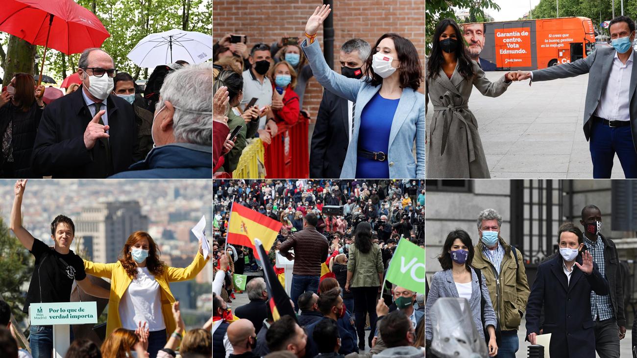 Los candidatos de las elecciones en Madrid siguen con su campaña