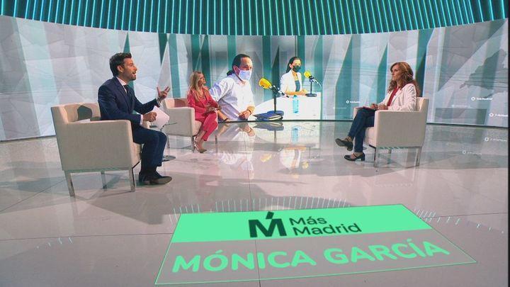"""Mónica García:  """"Hay que preguntar a Ayuso si pactará con quienes traen el odio y la intolerancia"""""""