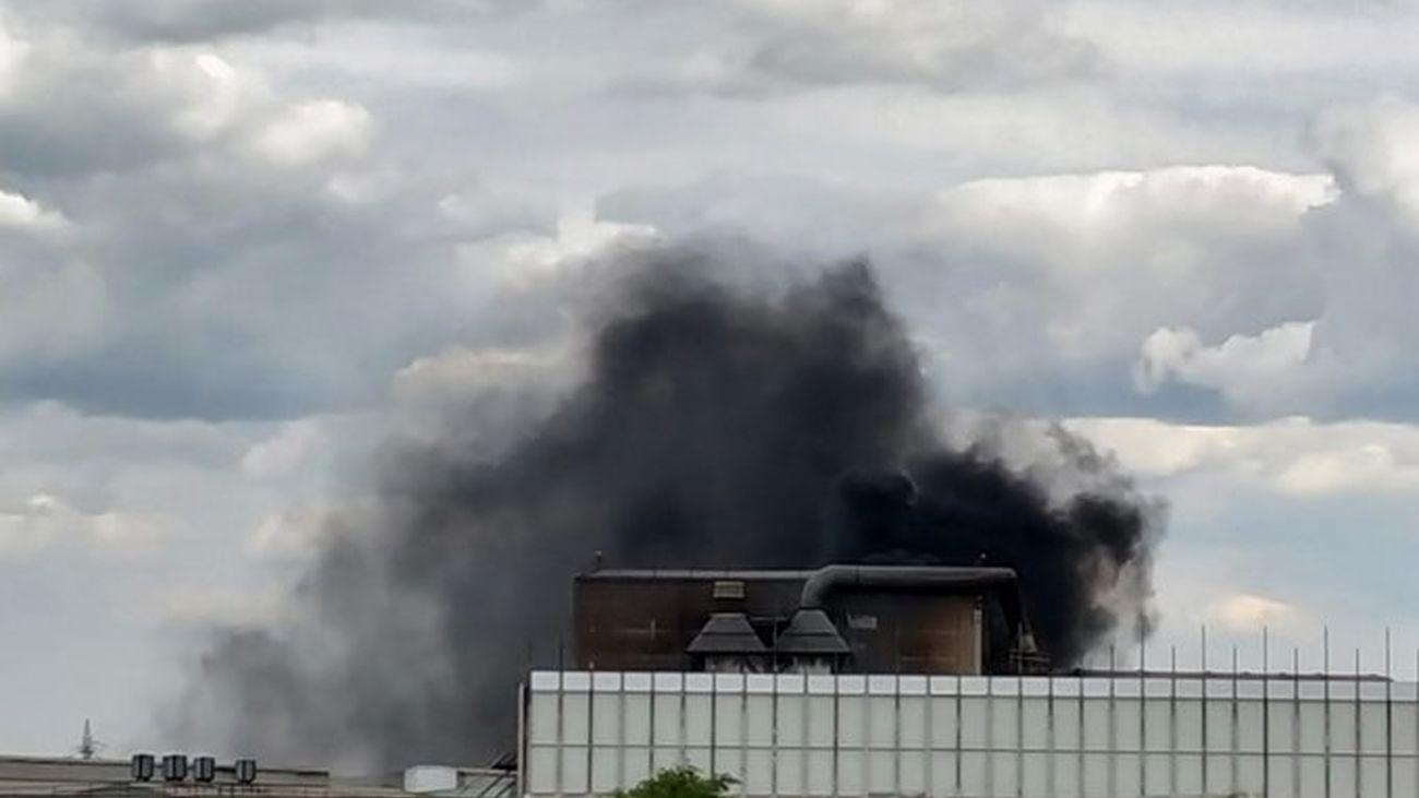 Incendio en la factoría de Corrugados de Getafe el 19 de abril