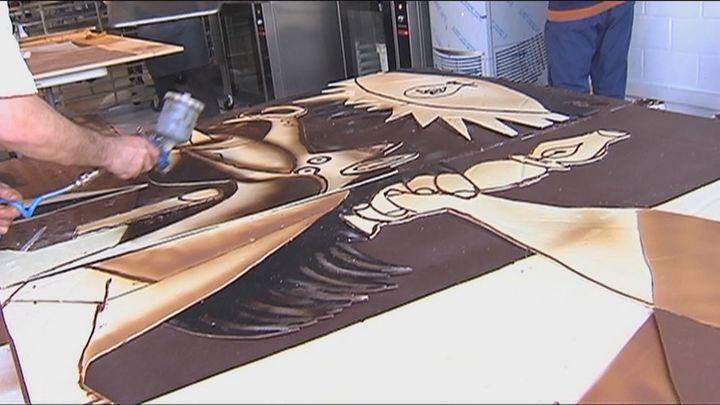 Recrean el 'Guernica' en chocolate a tamaño real