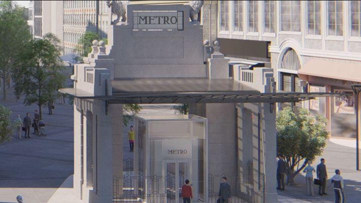 La estación de metro de Gran Vía contará con un templete que recrea el original de Antonio Palacios