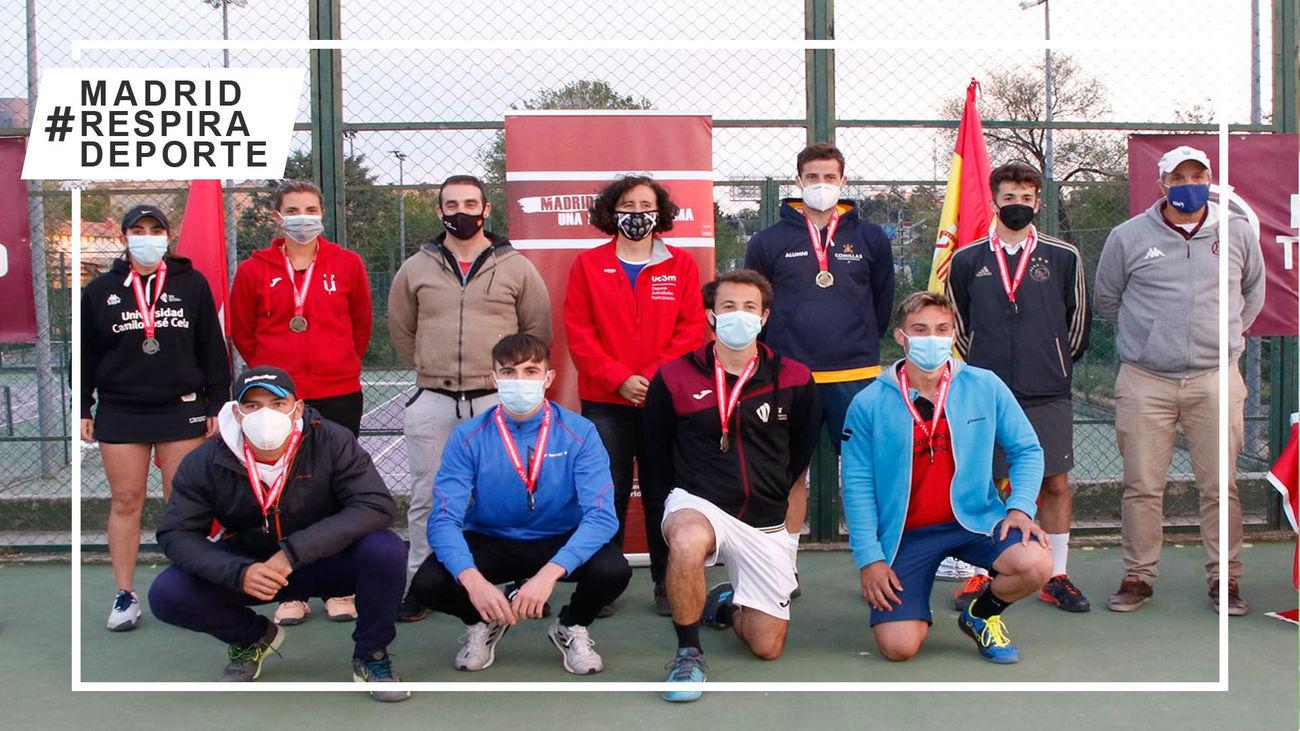 Campeones y finalistas del Campeonato Universitario de Tenis