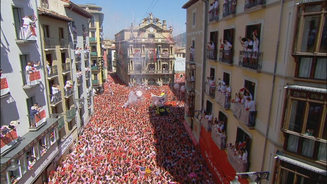 Pamplona en la celebración de los Sanfermines de 2019