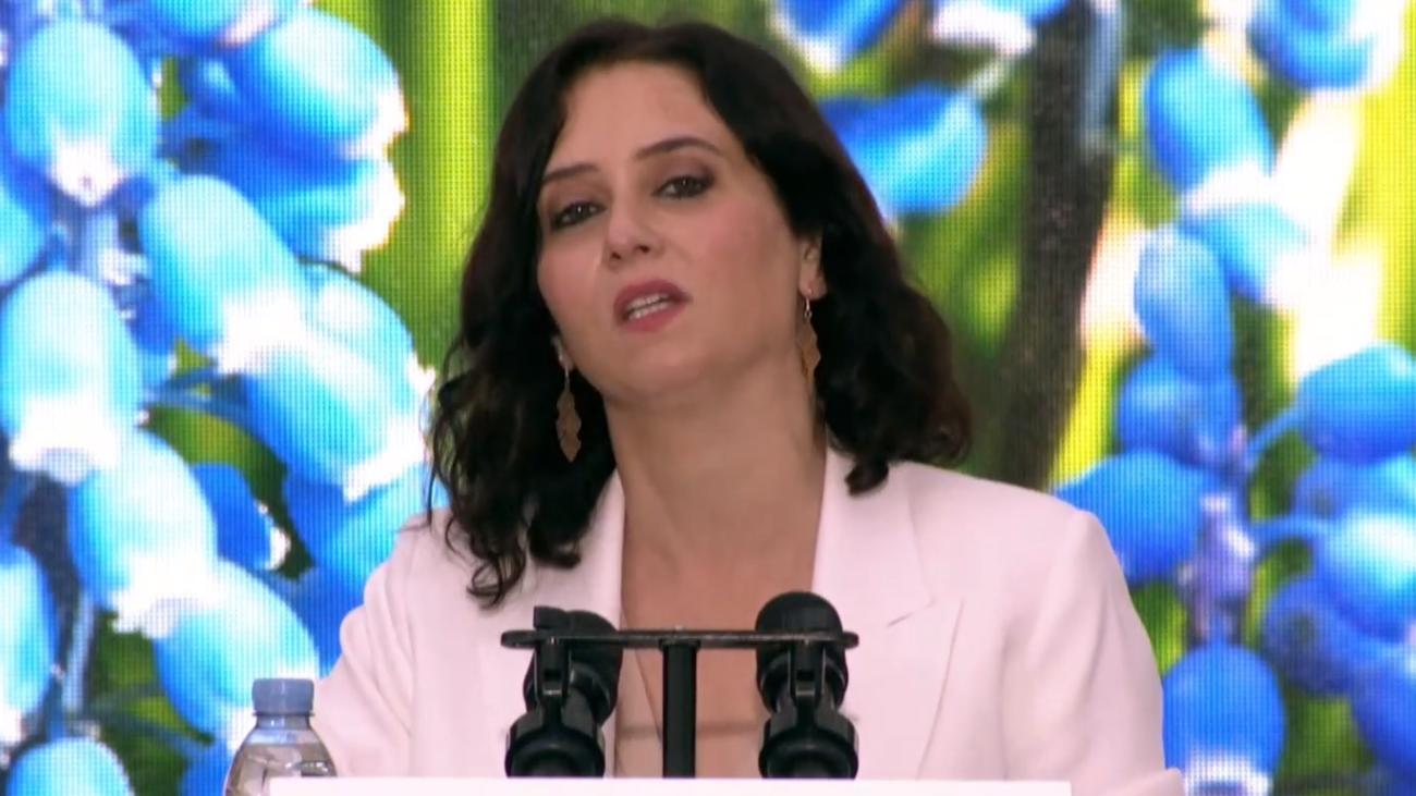 Isabel Díaz Ayuso candidata a la Presidencia interviene en el mitin de Leganés de este martes