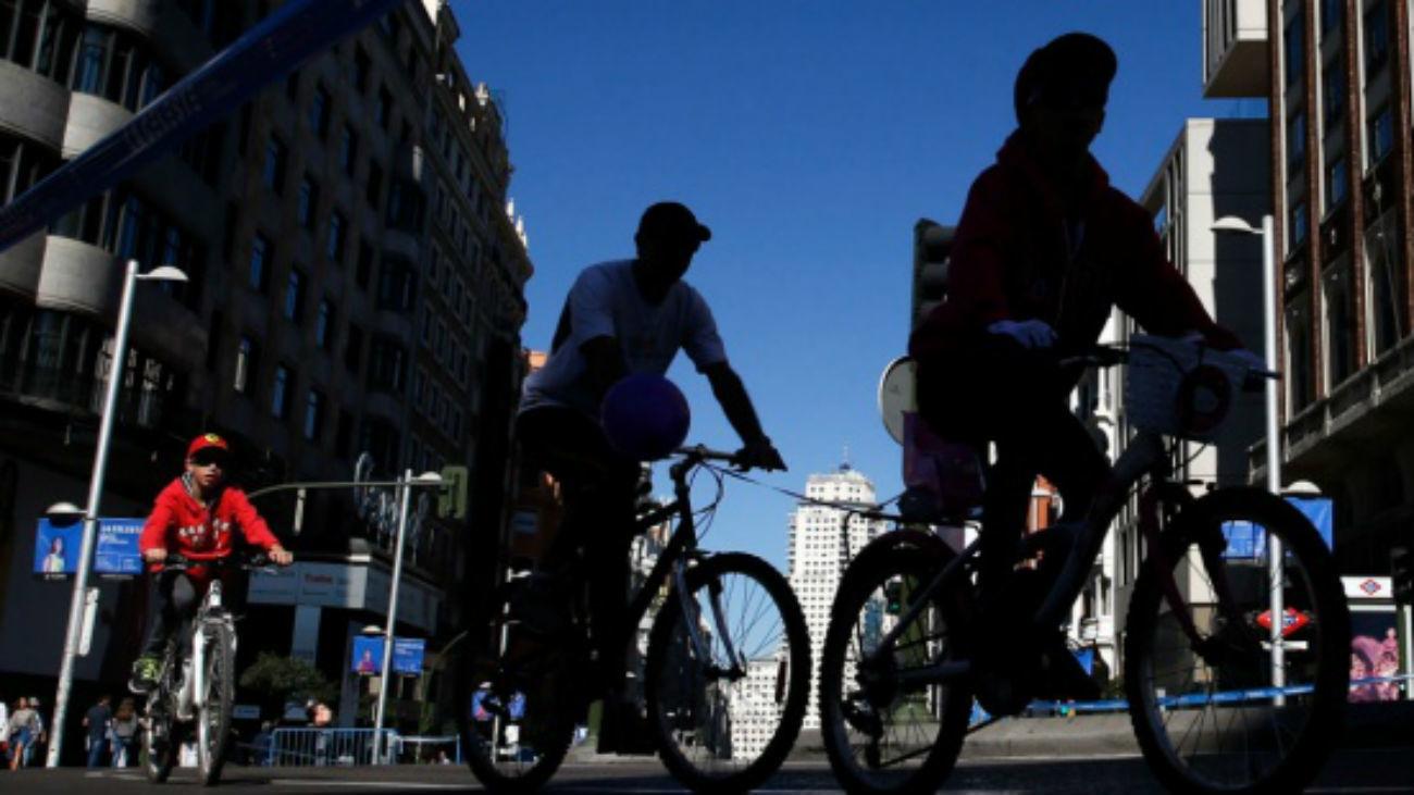 Ciclistas en Madrid