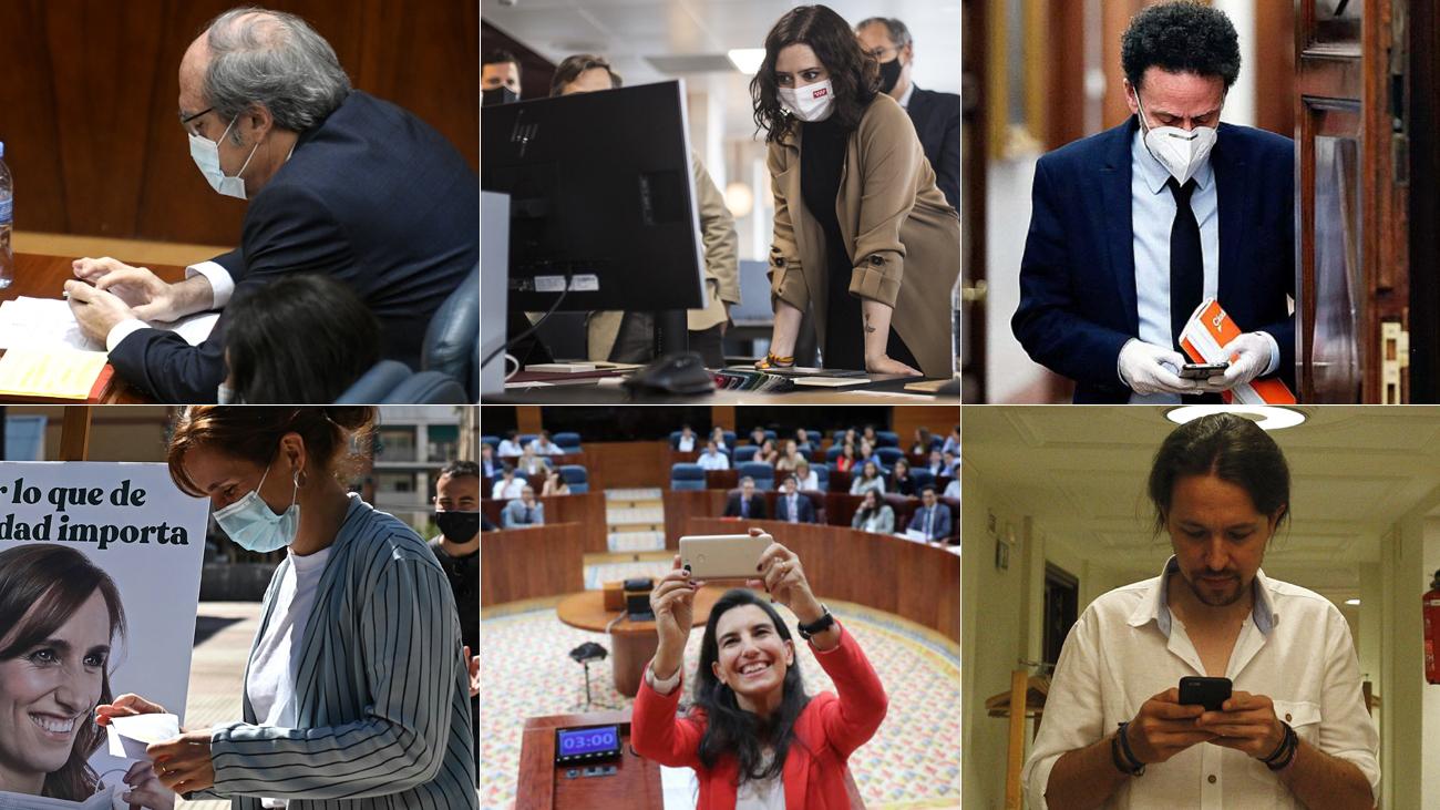 Los candidatos en las elecciones de Madrid, 'reyes' de Twitter