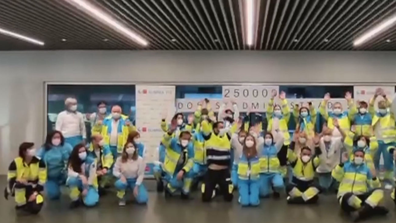 Madrid roza ya el medio millón de ciudadanos con la pauta completa de vacunación