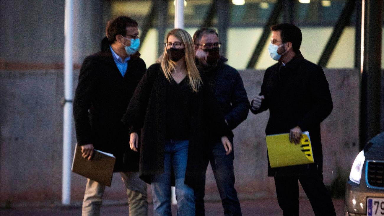 ERC y Junts se reúnen en la cárcel de Lledonersy se conjuran para acordar el Govern catalán