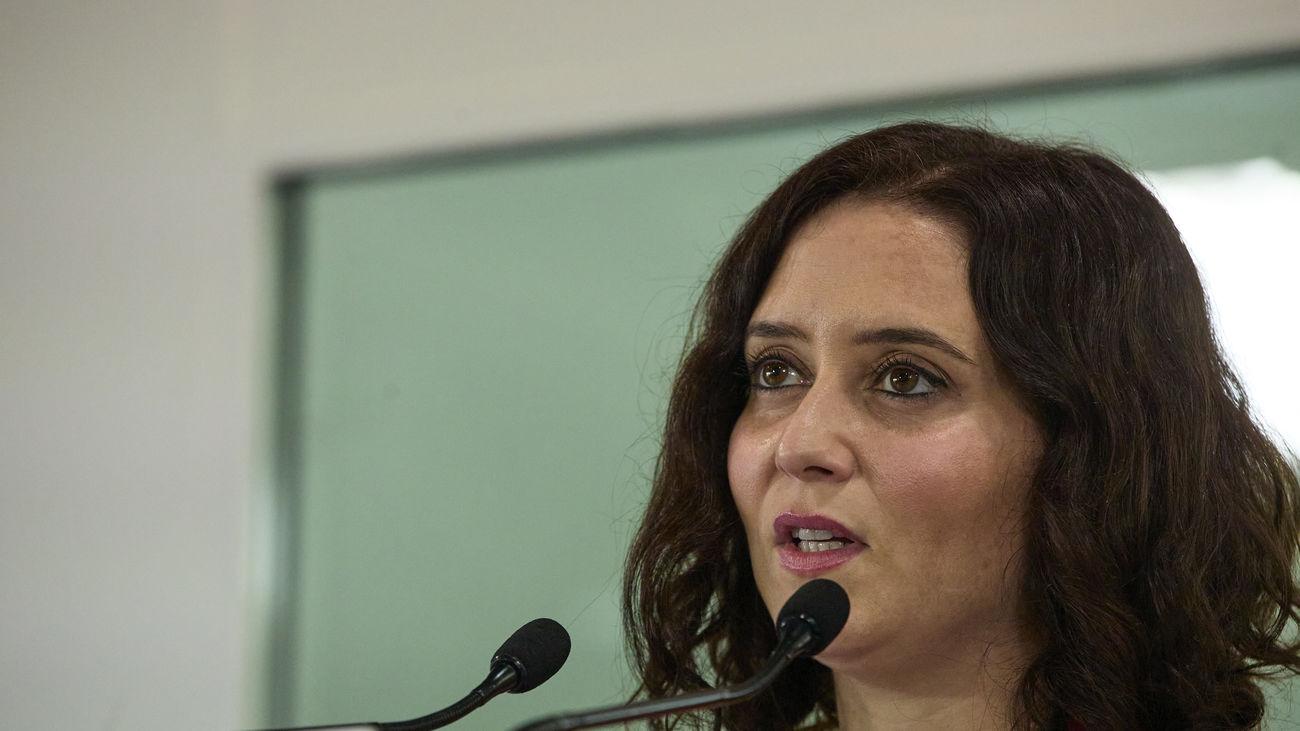 La presidenta regional y candidata del PP a la reelección, Isabel Díaz Ayuso
