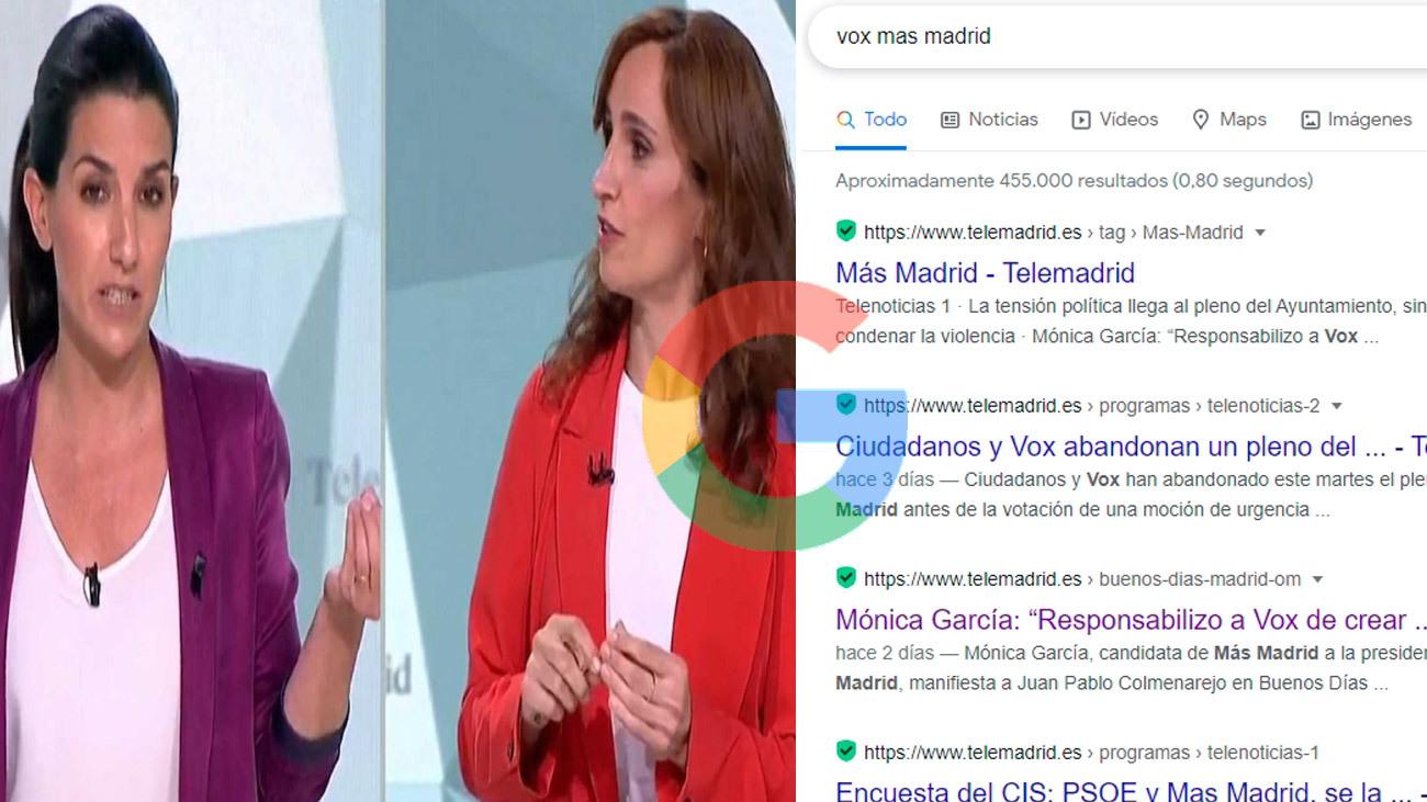 4M en Google: Vox y Más Madrid, lo más buscado de los madrileños