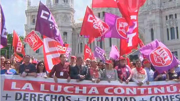 Delegación del Gobierno limita a 1.000 personas la manifestación de CCOO y UGT en Madrid por el 1 de mayo