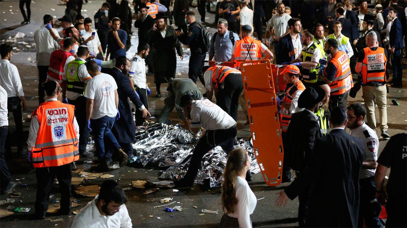 Al menos44 muertos y 150 heridos en una avalancha humana en Israel durante la multitudinaria celebración judía de Lag Baomer