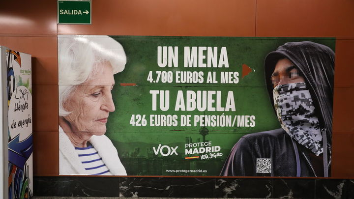 La Audiencia de Madrid refrenda el cartel de Vox contra los menas