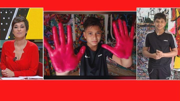 14.000 euros por el cuadro de Juanito Cortés, un joven pintor de 11 años