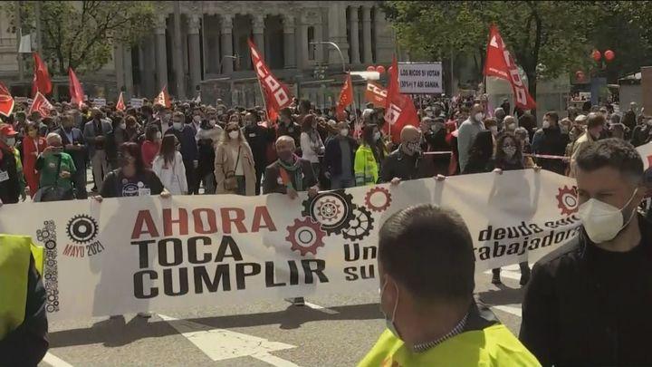 1º de Mayo: UGT y CCOO piden al Gobierno que cumpla sus compromisos y derogue la reforma laboral