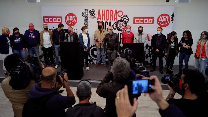 """CCOO y UGT piden un contrato social del siglo XXI como """"vacuna contra la extrema derecha"""""""