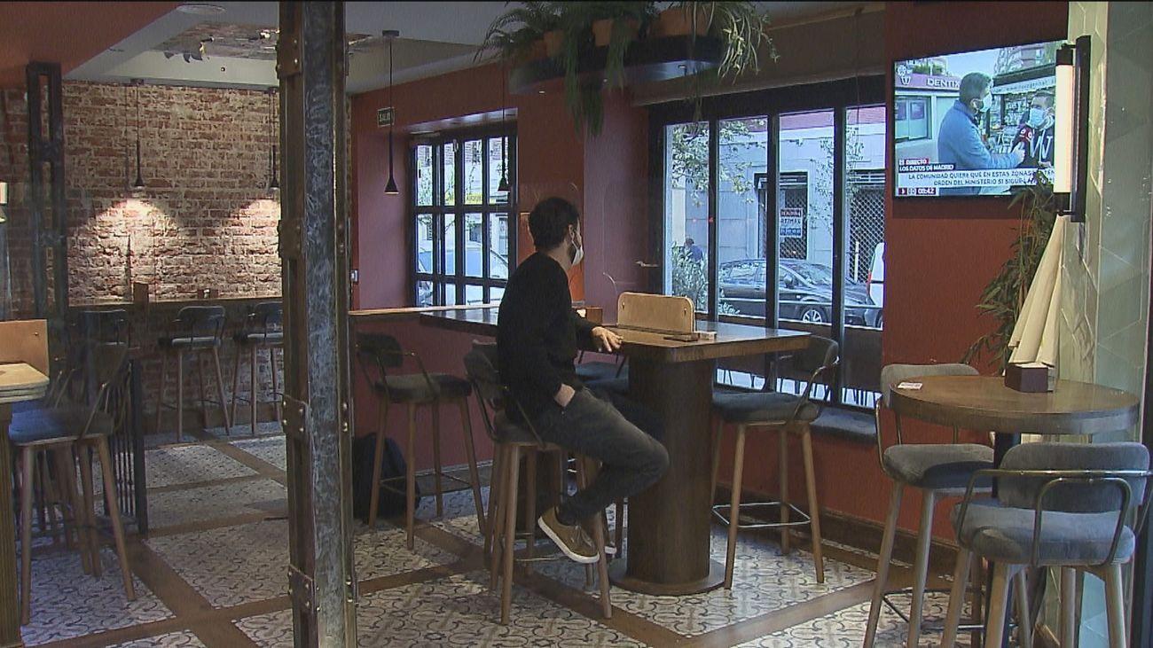 Madrid mantendrá las restricciones a la hostelería cuando decaiga el estado de alarma el 9 de mayo