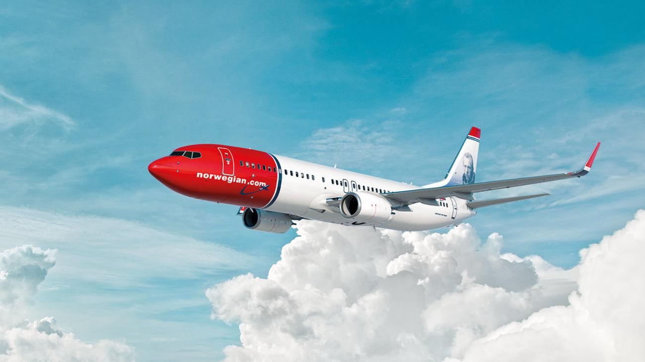 Avión de la aerolínea escandinava Norwegian