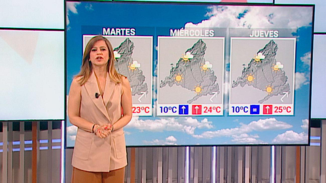 Sol y subida de temperaturas en Madrid a partir del martes