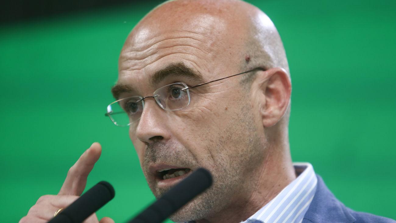 El portavoz de Vox, Jorge Buxadé