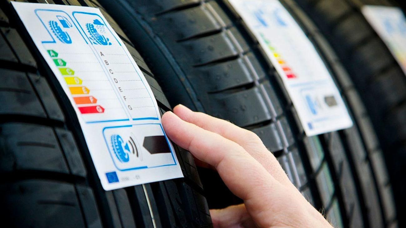 Neumáticos con el etiquetado ambiental