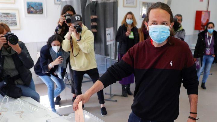 El efecto Pablo Iglesias hace crecer a Podemos en Madrid solo en tres escaños