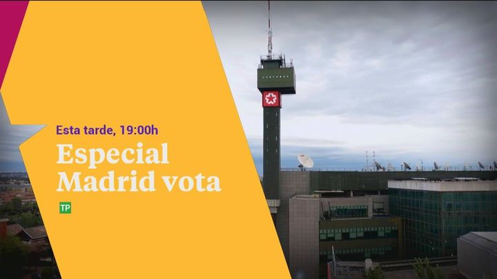 Programa Especial 'Madrid vota' de Telemadrid a las 19 horas con un sondeo exclusivo de Gad 3 a pie de urna