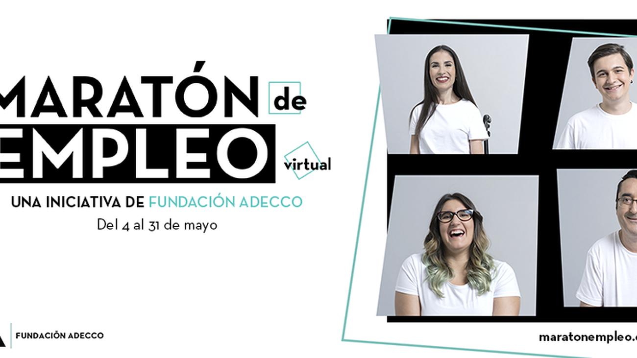 Talleres virtuales y ofertas de empleo en el primer maratón de la Fundación Adecco