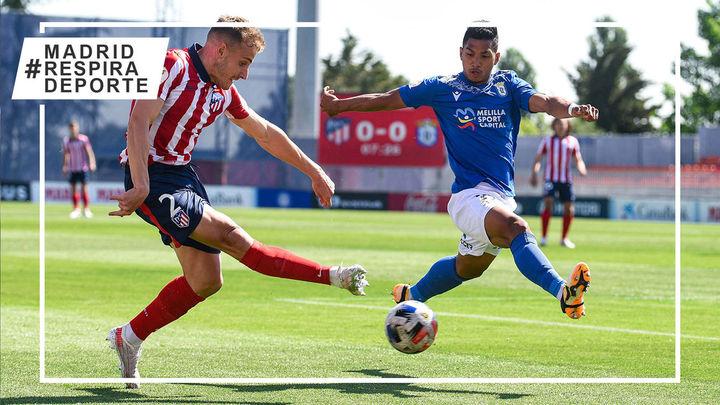 0-2. El Atleti B cae ante el Melilla y se complica la permanencia en Segunda B