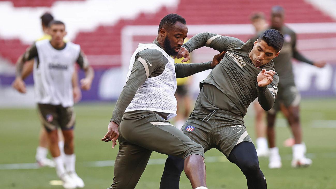 El Atlético se entrena sin Giménez, Lodi y Lemar