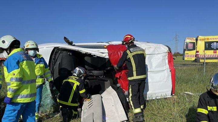 Un conductor herido tras dar varias vueltas de campana en la M-600