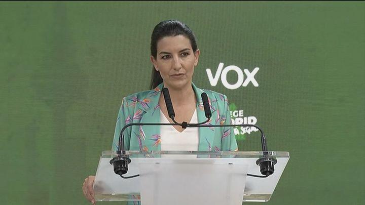 """Vox asegura que ha cumplido su objetivo de parar """"el asalto comunista"""" a Madrid"""