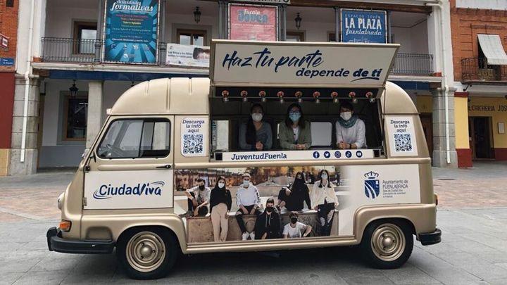 Una furgoneta vintage concienciará frente a la Covid a los jóvenes de Fuenlabrada