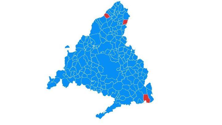 El mapa de Madrid se tiñe del azul del PP en estas elecciones del 4M