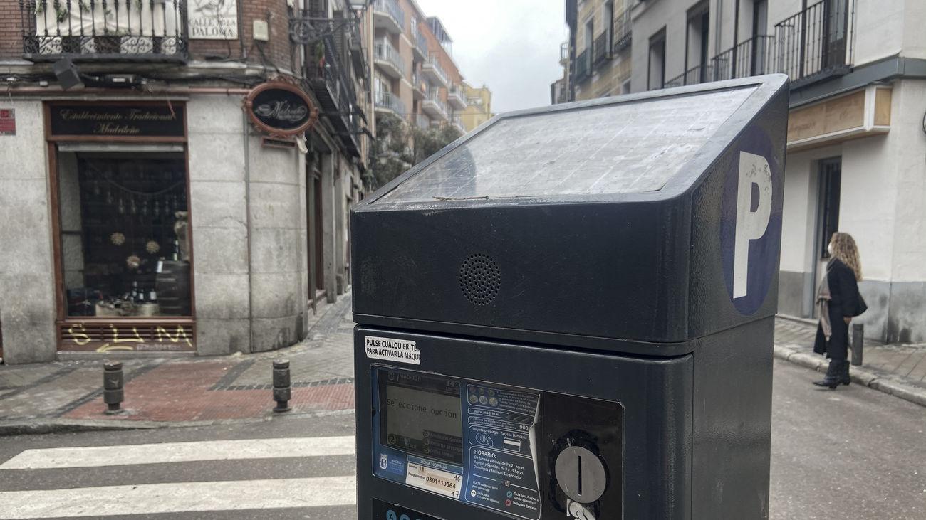 Parquímetro en una calle de Madrid