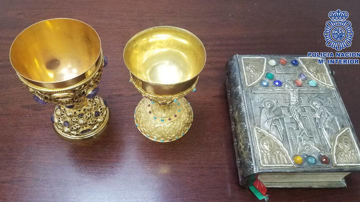 Recuperadas tres piezas de gran valor artístico robadas en una iglesia de Hortaleza