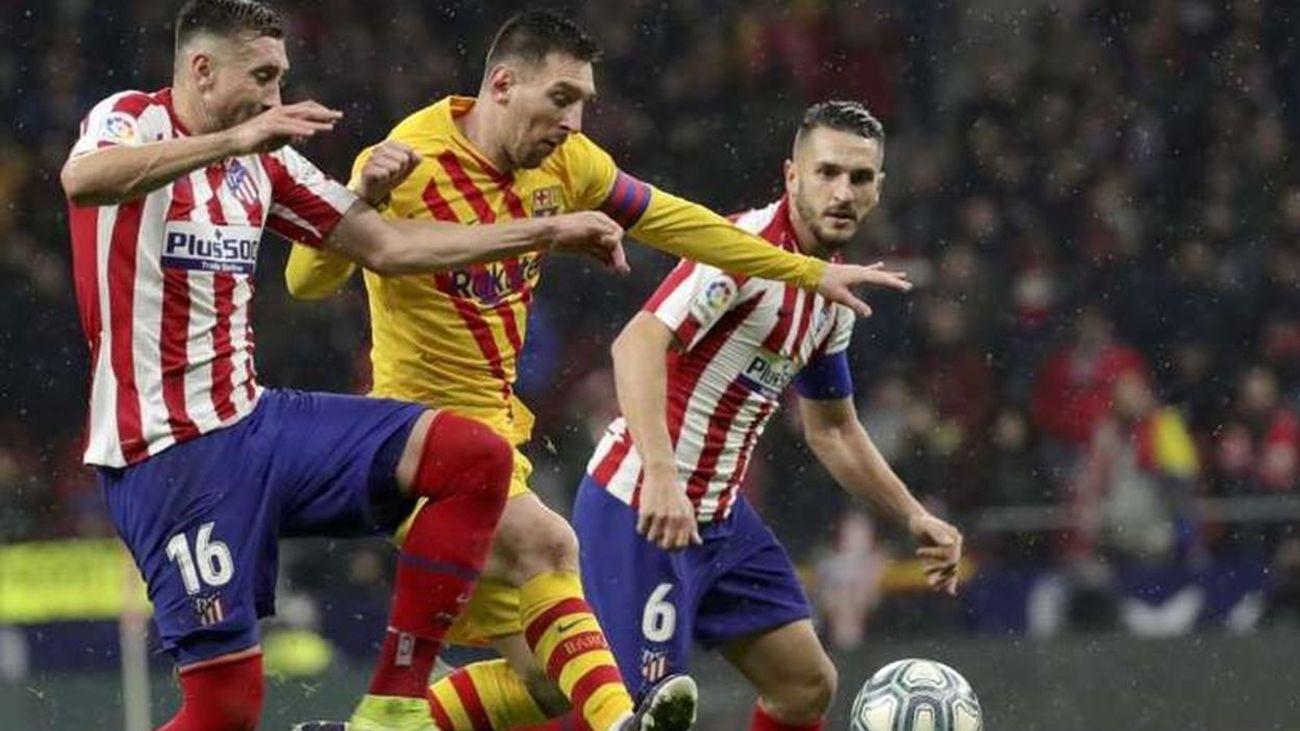Messi ante Giménez y Koke