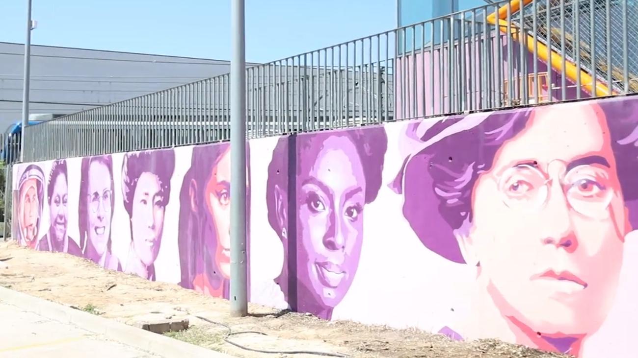 Mural feminista en Rivas-Vaciamadrid