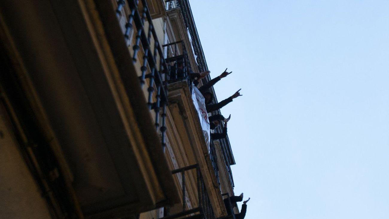 La Ingobernable quiere poner en marcha una oficina de derechos sociales en el edificio okupado del antiguo hostal Cantábrico