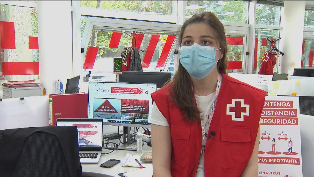La Cruz Roja ha incorporado más de 20.000 voluntarios durante la pandemia en Madrid