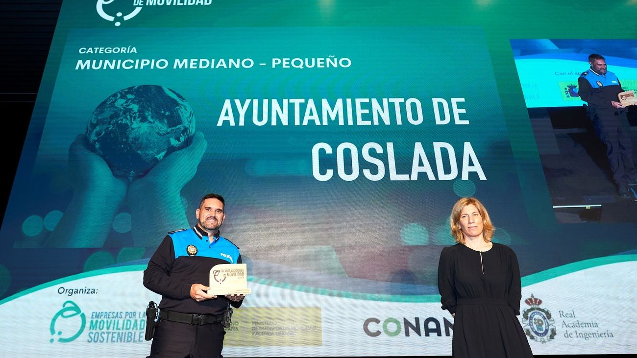 El programa 'Camino escolar en bicicleta' de la Policía Local de Coslada recibe uno de los Premios Nacionales de Movilidad