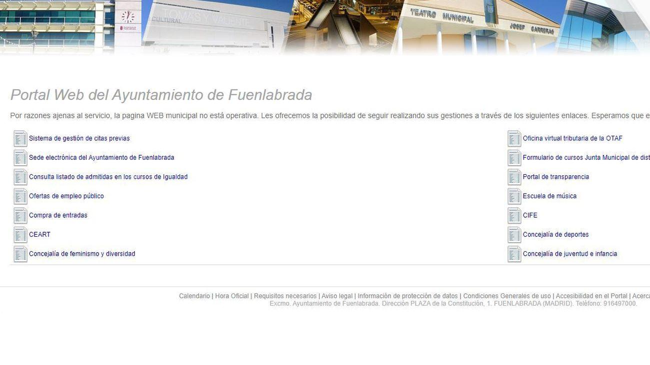 El Ayuntamiento de Fuenlabrada sufre un ciberataque