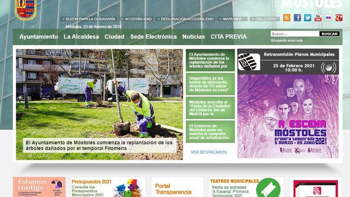 La web del Ayuntamiento de Móstoles, también hackeada
