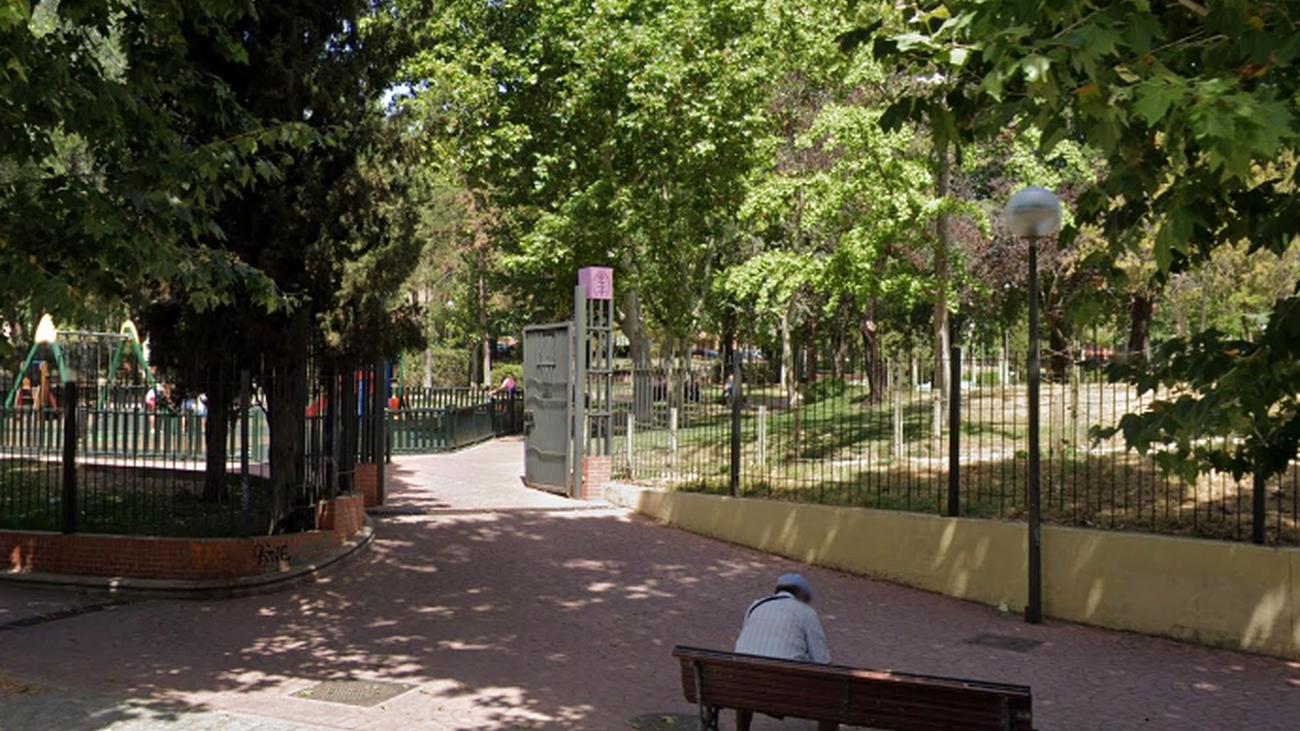 Entrada al Parque de la Comunidad de Madrid, en Alcobendas