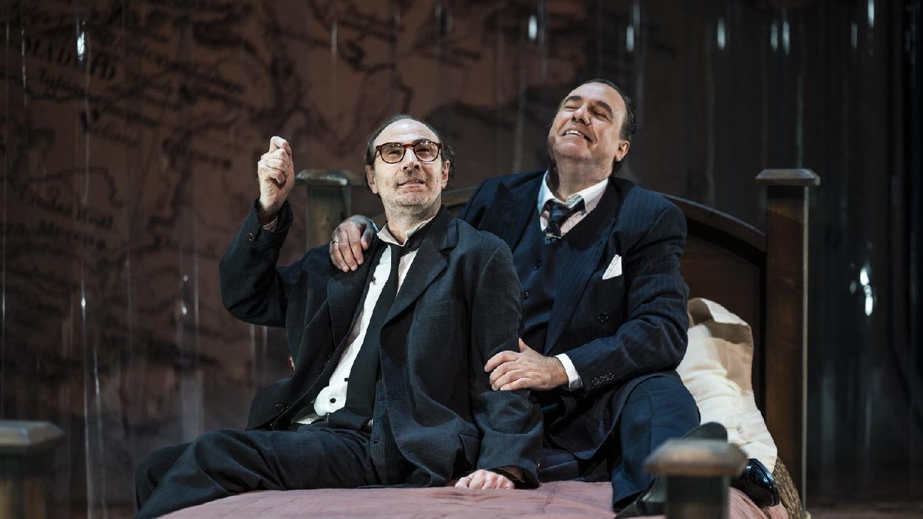 Un momento de la obra 'Los hermanos Machado', del Teatro del Temple