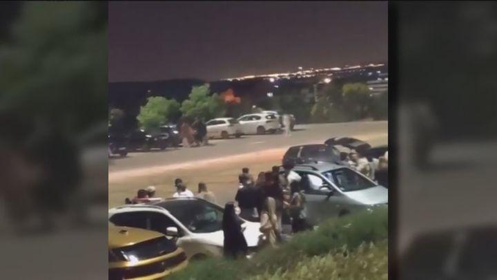 Botellón y peligrosos trompos en un parking de Rivas Vaciamadrid