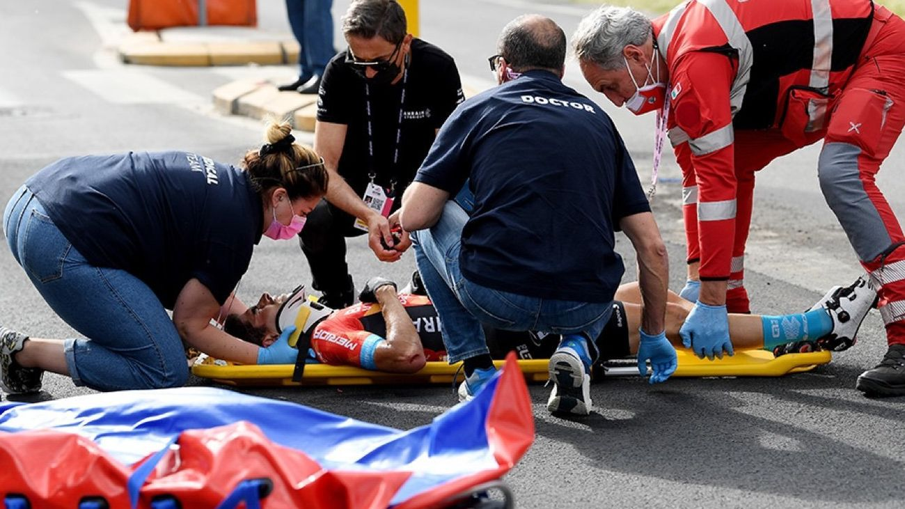 Accidente de Mikel Landa